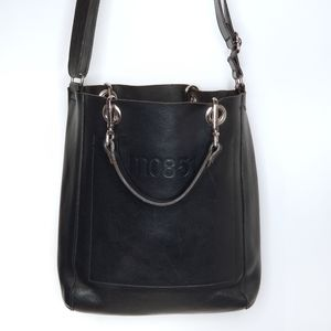 m0851   SH11 Saddle Tote Black Vachetta Leather